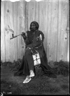 Chief Red Cloud with pipe