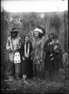 Mr. and Mrs. Arthur E. McFatridge & an Indian family.