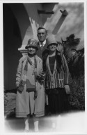 Ova Chamberlin with his wife Mabel Chamberlin and Mother-in-Law
