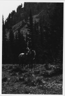 Unidentified woman on horseback