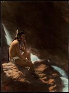 Northern Plains Indian man contemplating