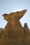 A rock formation commonly referred to as a Hoodoo on the Kaiparowits Plateau.