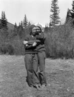 Friends of Robert Landberg in mountains.