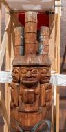 Lelooska Totem Pole Detail
