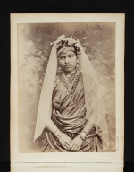 Portrait of a young woman in Sri Lanka.