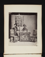 Portrait of a Seated Man with a Standard Bearing Attendant.