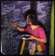 Jan Vriesen working on Kansas Coastline background