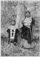 Sioux woman and daughter