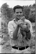 Jack Ferguson with Iguana