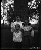 Mrs. J. D Figgins with her Children