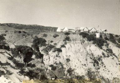 Excavation campsite. Lindenmeier Site