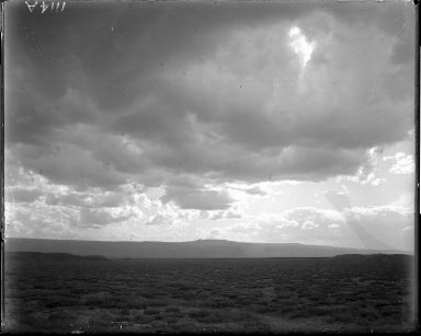 Clouds and view north of Grand Junction