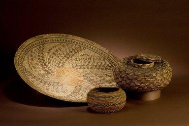 Group of Chumash baskets