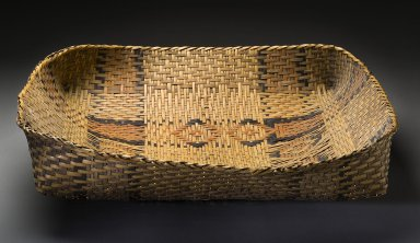 Square basketry tray