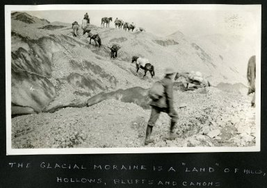 """""""The glacial moraine is a """"Land"""" of hills, hollows, bluffs and canons"""""""