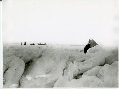 Eskimo whalers and camp