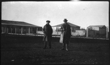 Miller and an unidentified man in Patagonia, Argentina.