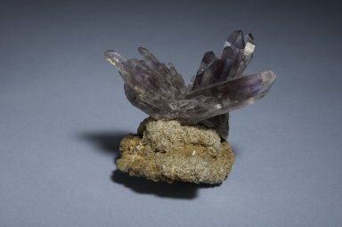 Quartz and amethyst, side A