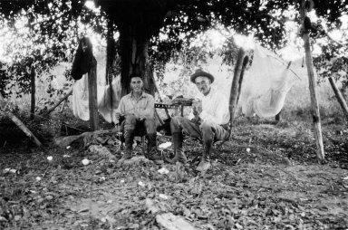 Museum camp scene, Descalvados (Ranch). J.D. Figgins on right.