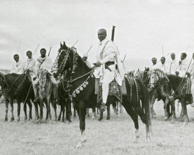 Abyssinia, native horsemen
