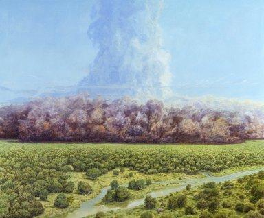 Ancient Denvers Paintings - The Rockies Explode