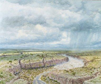 Ancient Denvers Paintings - Castle Rock Floods