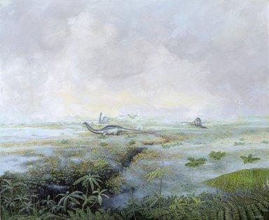 Ancient Denvers Paintings - Long Neck Meadow