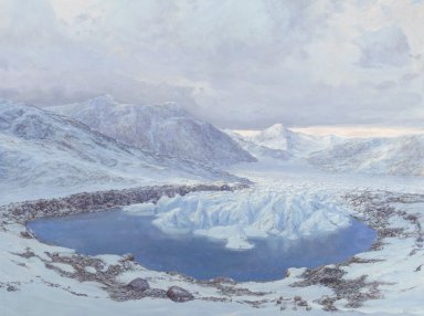 Snowmass Village paintings - 150 Million Years Ago, Glacier