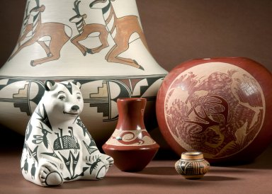 Group photograph of pottery