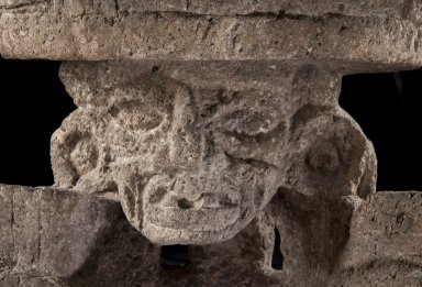 Close up of the face on the Incensario