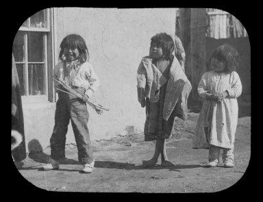 Three American Indian children