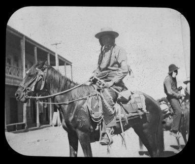 Native American man on horseback
