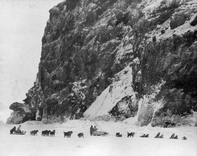Museum sled round Cape Lisbourne