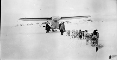Taking Wilkins plane to Birnirk [Bernirk?] for his trip to Spitzbergen
