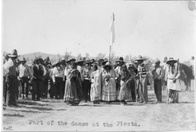 Part of the dance at the Jicarilla Apache Fiesta