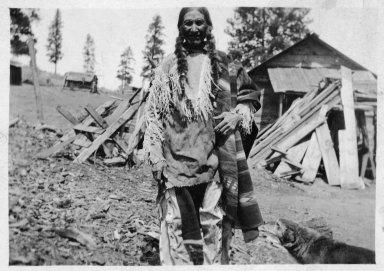 Jicarilla Apache man in native costume