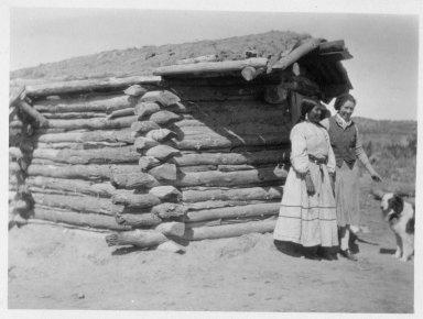 Jicarilla Apache woman and Anglo woman