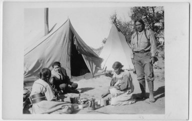 Jicarilla Apache family scene