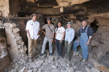 Field Team at Park Cliff Dwelling research site.