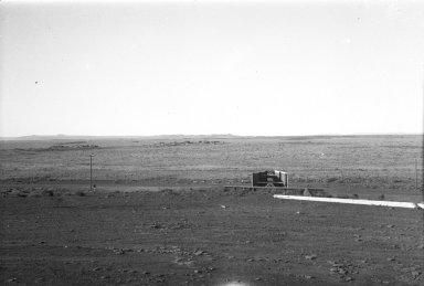 Crater on horizon