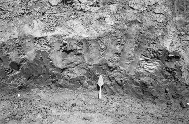 Meteorodes in situ at bottom of crater