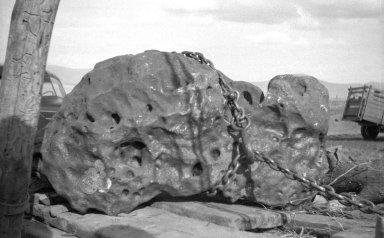 Meteorite loaded for transport