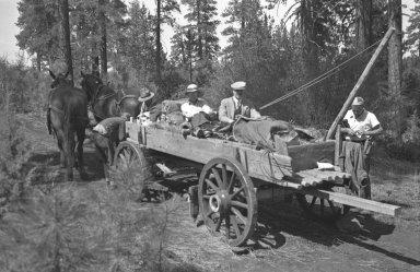 Specimen loaded in wagon
