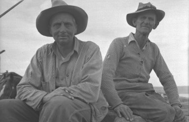 Two timber men hired to help retrieve the meteorite