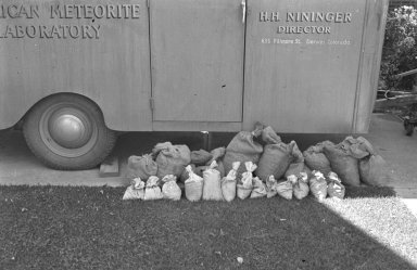 American Meteorite Laboratory with specimen bags