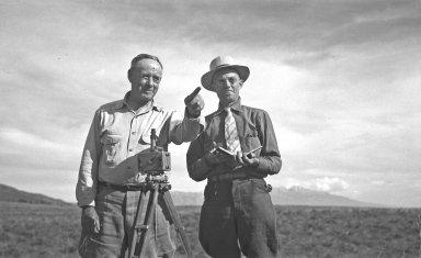 H.H. with surveyor