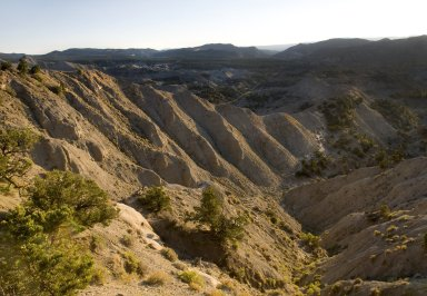 A panoramic view of the Kaiparowits Plateau.