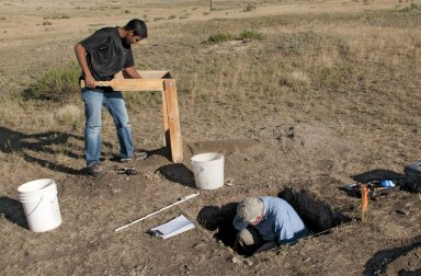 Fieldwork at Scott Springs archaeological site