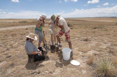 Dr. Frank Krell fieldwork at Bijou Creek