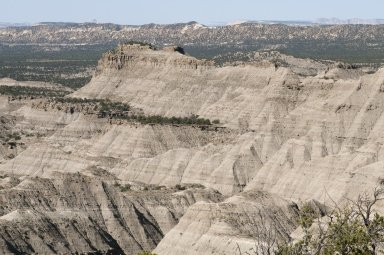 A panoramic view of the Kaiparowits Plateau in Utah.